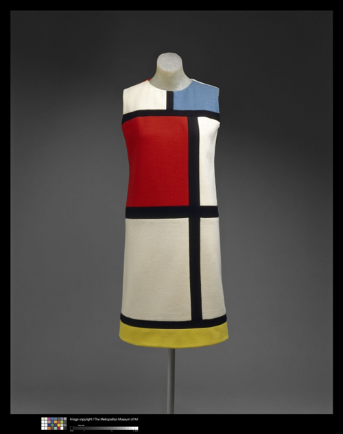 Yves Saint Laurent (French, born Algeria, 1936), Designer; Yves Saint Laurent, Paris (French, founded 1962), couture house dress, fall/winter 1965–66, wool. Courtesy of The Metropolitan Museum of Art, Gift of Mrs. William Rand, 1969.