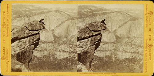 Eadweard Muybridge. <em>Contemplation Rock, Glacier Point (1385)</em>, 1872. Collection of California Historical Society.