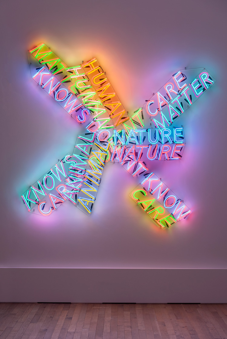 Bruce Nauman. Human Nature/Knows Doesn't Know, 1983/1986. Installation view, Tate Modern. Photo: Tate Photography (Matt Greenwood). Artwork © Bruce Nauman / ARS, NY and DACS, London 2020.