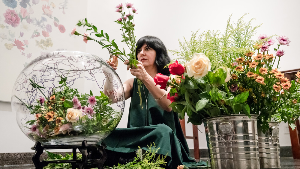 Iranian artist Maryam Najd talks about her exhibition at the Arthur M Sackler Museum of Art and Archaeology in Beijing and why she chose to embark on a project researching the national flowers of the world