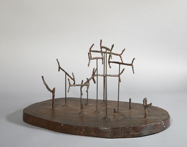 William Turnbull. Aquarium, 1949. Bronze, 28 x 38 x 50.8 cm. National Galleries of Scotland. Purchased from the Henry and Sula Walton Fund with help from Art Fund 2014 + logo. © Estate of William Turnbull. All rights reserved, DACS 2017.