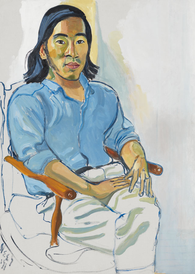 Alice Neel. Ed Sun, 1971. Oil on canvas, 106.7 x 76.2 cm (42 x 30 in). © The Estate of Alice Neel. Courtesy David Zwirner, New York/London and Victoria Miro, London.