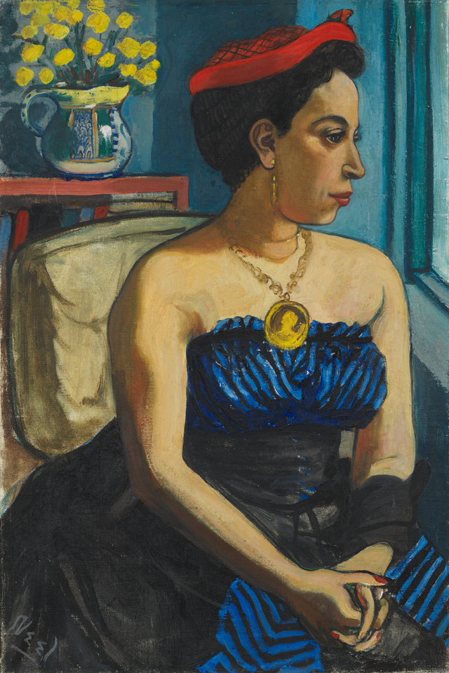 Alice Neel. Alice Childress, 1950. Oil on canvas, 75.9 x 50.8 cm (75 7/8 x 20 in). Collection of Art Berliner. © The Estate of Alice Neel. Courtesy David Zwirner, New York/London and Victoria Miro, London.