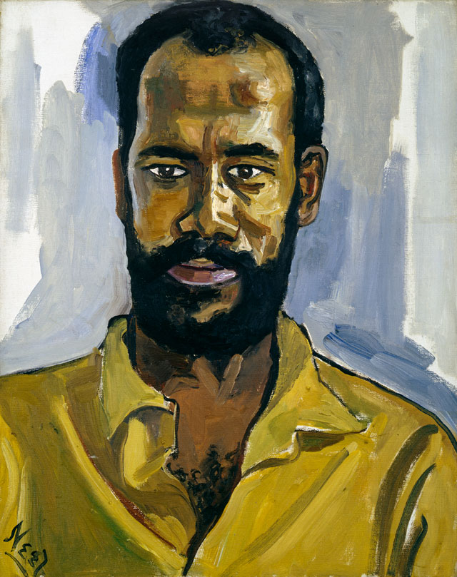 Alice Neel. Abdul Rahman, 1964. Oil on canvas, 50.8 x 40.6 cm (20 x 16 in). Private collection. © The Estate of Alice Neel. Courtesy David Zwirner, New York/London and Victoria Miro, London.