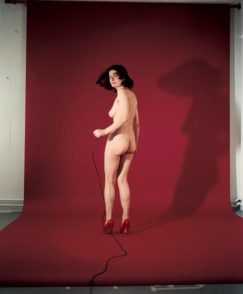 Jemima Stehli. <em>Red Turning, 2000, C-Type Print </em>© The Artist, courtesy Lisson Gallery, London