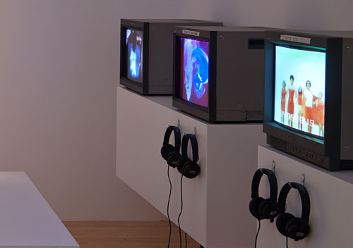 Nam June Paik. Video Lounge (detail). Photograph: Chris Park © Talbot Rice Gallery.