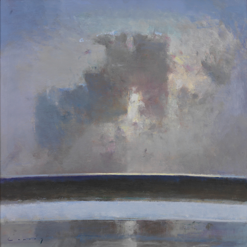 Fred Cuming RA. <em>Winter Sea.</em> Oil on board, 76.2 x 76.2 cm (30 x 30 inches).