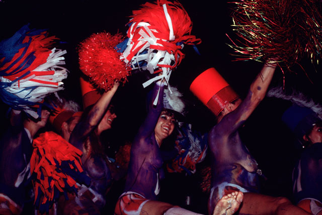 Neo Naturists, Body Painted Cheerleaders, with Michael Clark, Taboo, London, 1985. Courtesy of the Neo Naturists Archive.