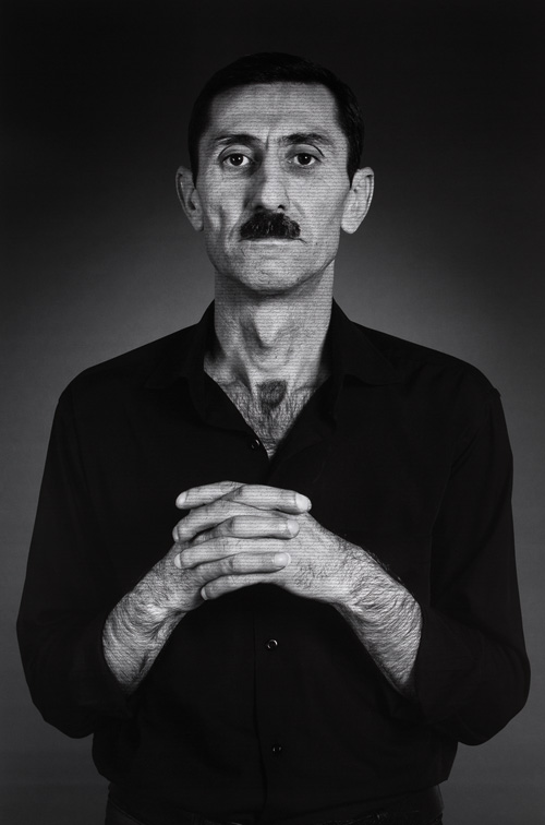 Shirin Neshat. Agayar, from The Home of My Eyes series, 2014-2015. Silver gelatin print and ink, 152.4 x 101.6 cm (60 x 40 in). Copyright Shirin Neshat, Courtesy of the artist and Gladstone Gallery, New York and Brussels.