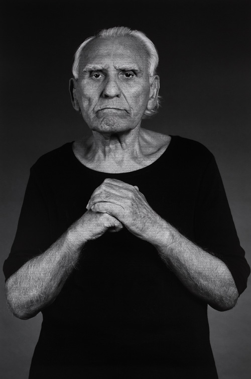 Shirin Neshat. Vladimir, from The Home of My Eyes series, 2014-2015. Silver gelatin print and ink, 152.4 x 101.6 cm (60 x 40 in). Copyright Shirin Neshat, Courtesy of the artist and Gladstone Gallery, New York and Brussels.