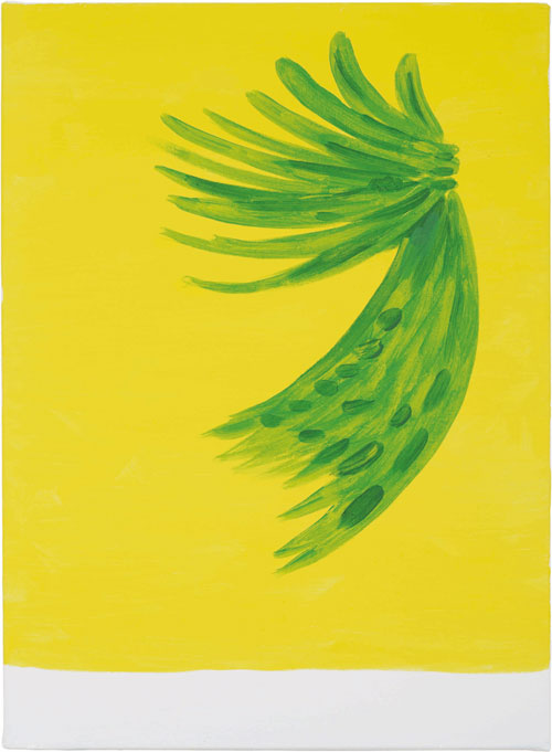 Jan May. Fronds, 2011. Acrylic and watercolour on linen, 56 x 41 cm. © the artist. Image courtesy of ICA. Photograph: Stephen White.