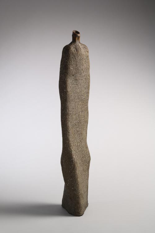 Nagakura Ken'ichi (b. 1952), <em>Woman</em>, 2004. Bamboo, lacquer, and powdered polishing stone and clay, H. 32 1/2 in. Collection of Diane and Arthur Abbey. Photo: Richard P. Goodbody.