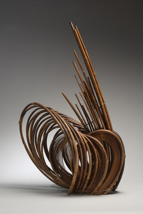 Honma Kazuaki (b. 1930) <em>Breath</em>, 1968. Bamboo, H. 34 3/4 in. Collection of Diane and Arthur Abbey. Photo: Richard P. Goodbody.