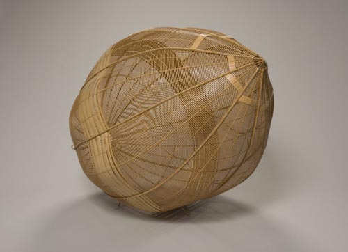 Yako Hodo (b. 1940) <em>Uplifting</em>, 1990. Bamboo, 31 1/2 x 23 1/2 x 23 1/2 in. The Buchbinder Family Collection. Photo: Michael Tropea.