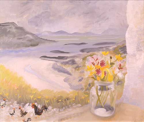 Winifred Nicholson, <i>Cheeky Chicks</i>, 1950. Oil on canvas, 