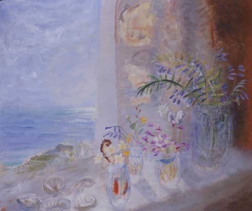 Winifred Nicholson, <i>View from Gavin Maxwell's (Hebridean Flowers)</i>, 