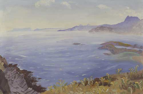 Winifred Nicholson, <i>Sandaig</i>, 1951. Oil on canvas, 61 x 91 