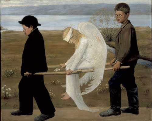 Hugo Simberg, <i>The Wounded Angel</i>, 1903. Ateneum Art Museum