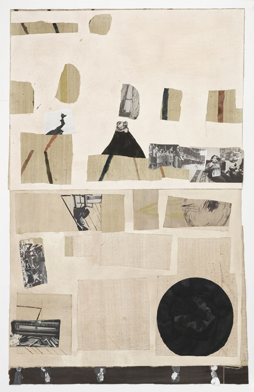 Jockum Nordström. Cronological Note, 2014. Watercolour, graphite, and collage on paper, 64 3/4 x 43 1/2 in (164.5 x 110.5 cm). Courtesy David Zwirner, New York/London.
