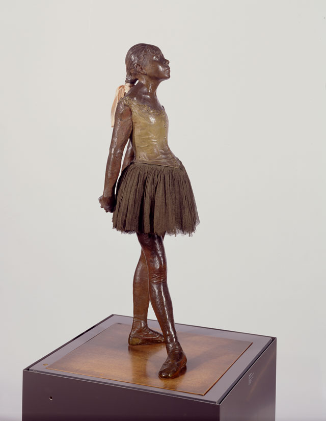 Edgar Degas, Little dancer aged fourteen, 1880-81, cast c1922. Bronze and fabric. Robert and Lisa Sainsbury Collection (UEA 2), Sainsbury Centre for Visual Arts, University of East Anglia. Photo: James Austin.