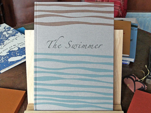 The Swimmer by S.J. Butler, images by Steffi Pusch, 32 x 23 cm, The Old Stile Press. Photograph: Martin Kennedy.