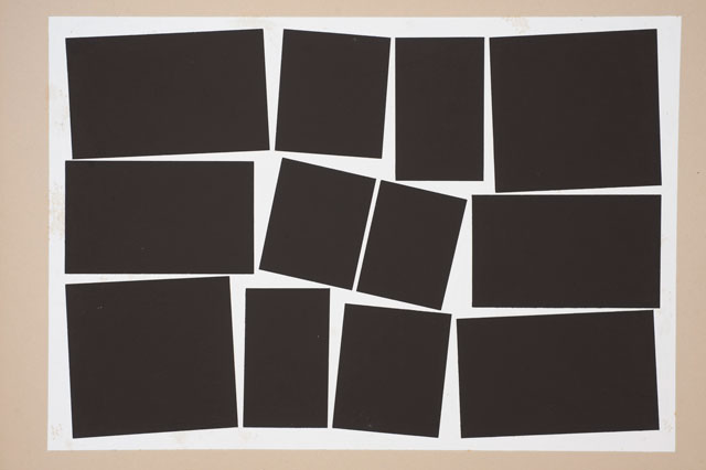 Hélio Oiticica, Metaesquema 362, 1958. Gouache on paper, 19 1/2 x 26 1/4 in. (49.53 x 66.67 cm). Carnegie Museum of Art, Pittsburgh; Edward N. Haskell Family Acquisition Fund and A. W. Mellon Acquisition Endowment Fund