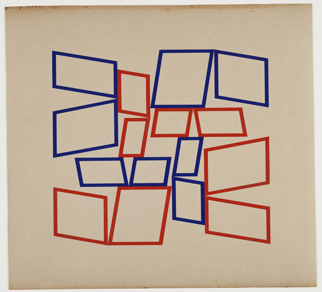 Hélio Oiticica, Metaesquema 4066, 1958. Gouache on cardboard, 21 × 22 7/8 in. (53.3 × 58.1 cm). Museum of Modern Art, New York; Gift of the Oiticica family. © The Museum of Modern Art/Licensed by SCALA / Art Resource, NY
