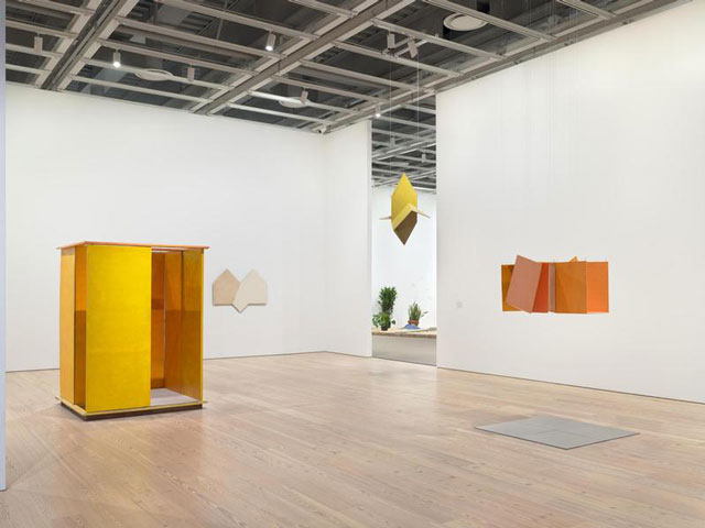 Installation view of  Hélio Oiticica: To Organise Delirium  (Whitney Museum of American Art, New York, July 14–October 1, 2017). From left to right: PN1 Penetrable (PN1 Penetrável), 1960; P34 White Painting (P34 Série branca), 1959; Untitled, ca. 1960; NC1 Small Nucleus 1 (NC1 Núcleo pequeno 1), 1960. Photograph by Ron Amstutz