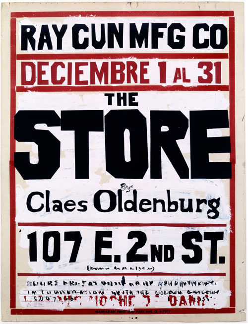 Claes Oldenburg. Study for a Poster, The Store, 1961. © 2013 Claes Oldenburg collection and courtesy the Oldenburg van Bruggen Studio.