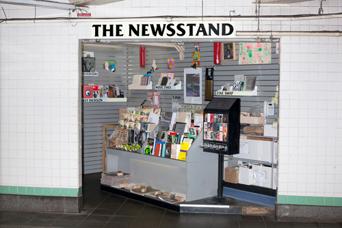 Lele Saveri. The Newsstand, 2013–2014. Mixed-medium installation, dimensions variable. Produced in collaboration with Alldayeveryday. Courtesy the artist.