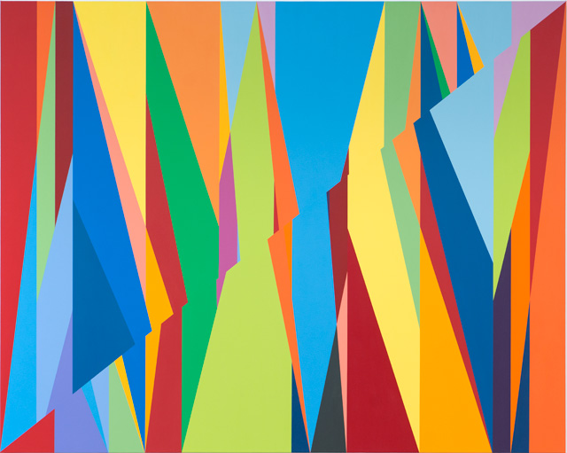 Odili Donald Odita. Fissure, 2015. Acrylic on canvas, 72 x 90 in.