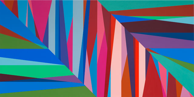 Odili Donald Odita. Chasm, 2015. Acrylic on canvas, 60 x 120 in.