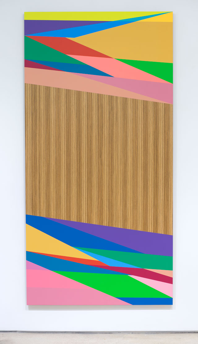 Odili Donald Odita. Distant Relative, 2015. Acrylic latex on panel, 96 x 48 in.