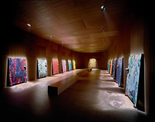 Chris Ofili. <em>The Upper Room,</em> 1999