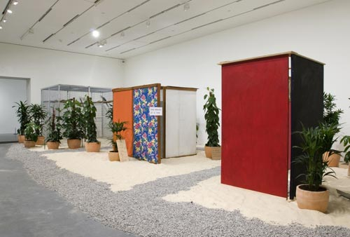 H&eacute;lio Oiticica. <em>Tropic&aacute;lia,</em> 1967. Mixed media. Purchased with the assistance of the American Fund for the Tate Gallery, the Latin American Acquisitions Committee, Tate Members, and The Art Fund, 2007. (c) Projeto H&eacute;lio Oiticica, Rio de Janeiro. Tate Photography