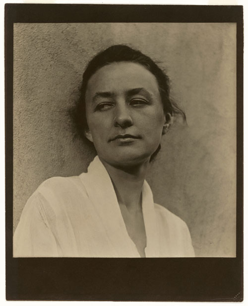Paul Strand. Georgia O'Keeffe, 1918. Photograph, platinum print. National Portrait Gallery, Smithsonian Institution, Washington, DC. Copyright © Aperture Foundation, Inc., Paul Strand Archive. Photograph: Art Resource, NY.