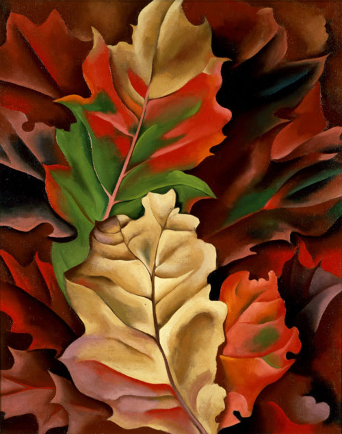Georgia O'Keeffe, American (1887-1986). Autumn Leaves, 1924. Oil on canvas, 20 1/4 x 16 3/8 in. Columbus Museum of Art, Ohio: Museum Purchase, Howald Fund II, 1981.006. © Georgia O'Keeffe Museum/Artists Rights Society (ARS), New York.