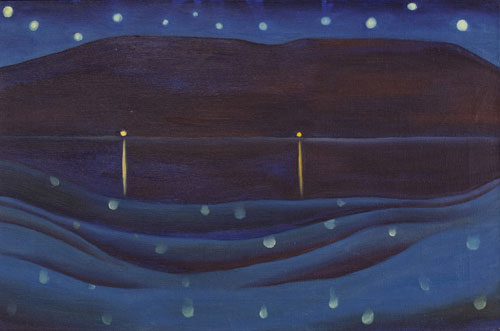 Georgia O'Keeffe, American (1887-1986). Starlight Night, Lake George, 1922. Oil on canvas, 16 x 24 in. Private Collection. © Georgia O'Keeffe Museum/Artists Rights Society (ARS), New York.