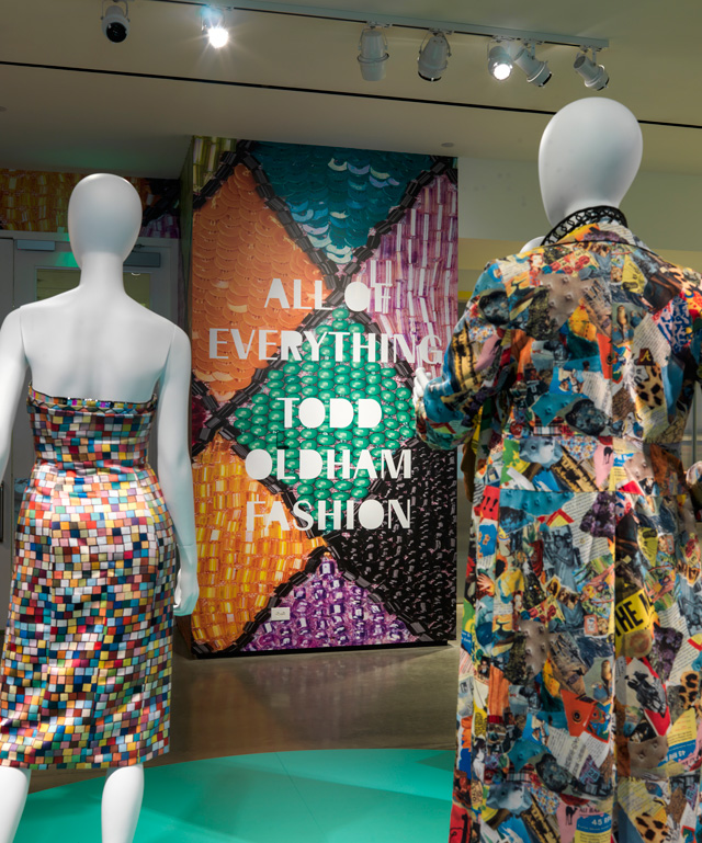 Installation view (5) of All of Everything: Todd Oldham Fashion, 8 April – 11 September 2016. Courtesy of the RISD Museum, Providence, RI.