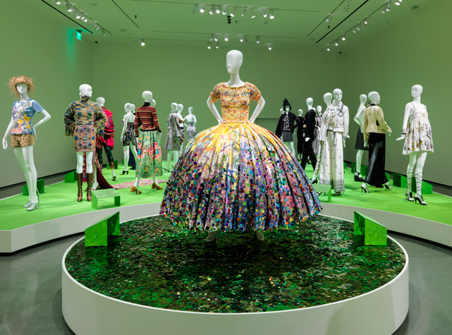 Installation view (2) of All of Everything: Todd Oldham Fashion, 8 April – 11 September 2016. Courtesy of the RISD Museum, Providence, RI.