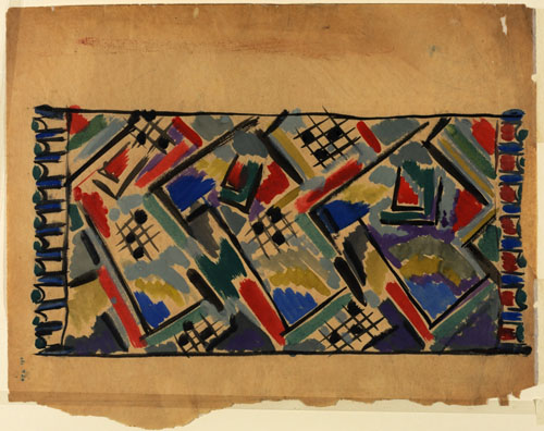 Omega Workshops, Design for a scarf or rug. 