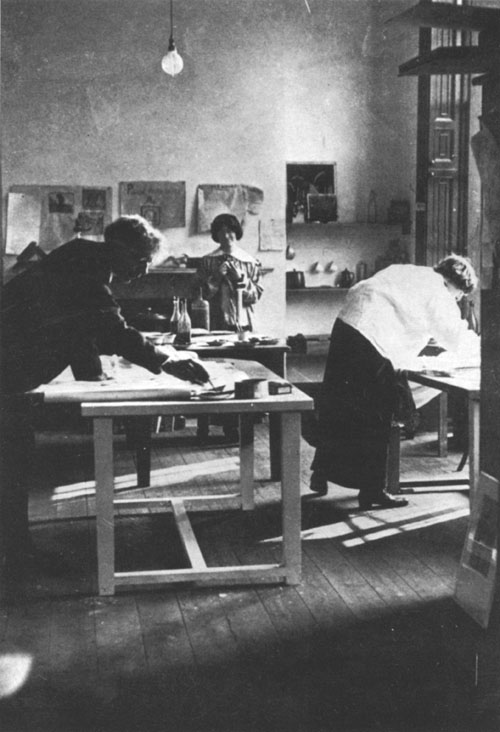 Roger Fry in the Omega Workshops.