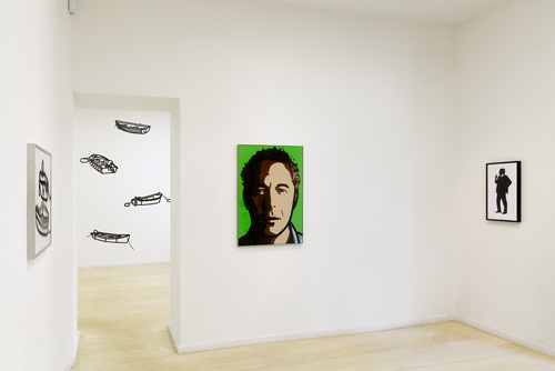 Julian Opie Editions 2012 - 2015. Gallery view, Alan Cristea Gallery. Photograph: Peter White.