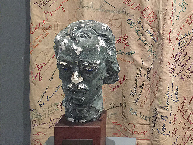 Bust of Edgar Allan Poe that belonged to Fulton Oursler. Photograph: Natasha Kurchanova.