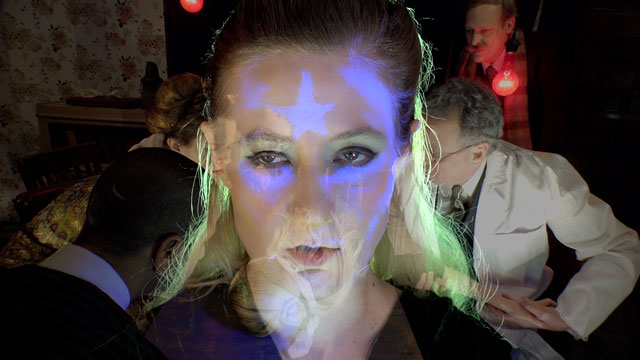 Tony Oursler. Imponderable. 2015-16. 5-D multimedia installation (colour, sound), 90 min. The Museum of Modern Art, New York. © 2016 Tony Oursler. Photograph: Jonathan Muzikar. Digital image © The Museum of Modern Art, New York.