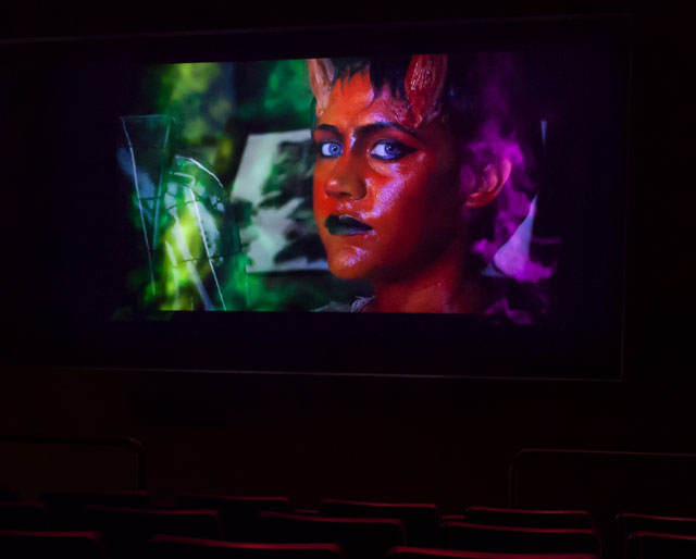 Tony Oursler. Imponderable. 2015-16. 5-D multimedia installation (colour, sound), 90 min. The Museum of Modern Art, New York. © 2016 Tony Oursler. Photograph: Jonathan Muzikar. Digital image © The Museum of Modern Art, New York