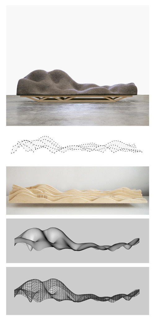 Lucas Maassen and Unfold. Brain Wave Sofa (Process Image), 2010. 