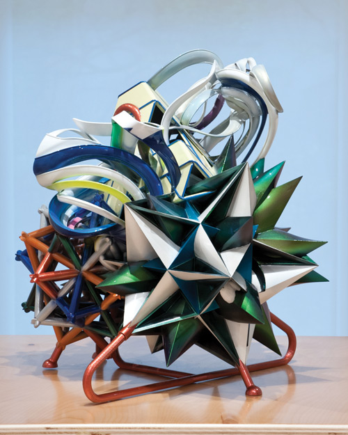 Frank Stella. K.162, 2001. Epoxy resin, lacquer. Courtesy of FreedmanArt, New York. Photograph: © 2013 Frank Stella/Artists Rights Society (ARS).