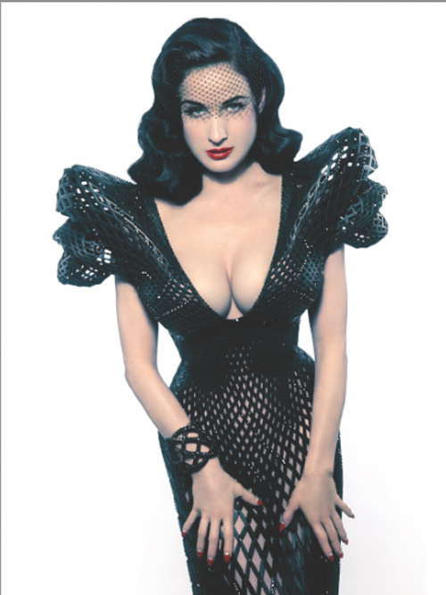 Michael Schmidt with Francis Bitonti. Fully articulated 3D-printed dress (as worn by Dita von Teese), 2013. Nylon, Swarovski crystal; laser sintering. Courtesy of Michael Schmidt. Photograph: Albert Sanchez; courtesy of Michael Schmidt Studios.