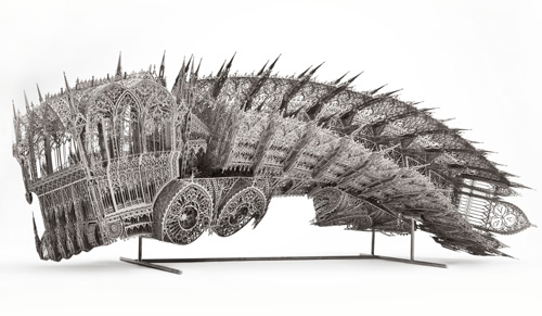 Wim Delvoye. Twisted Dump Truck (Counterclockwise, Scale model 1:5), 2011. 